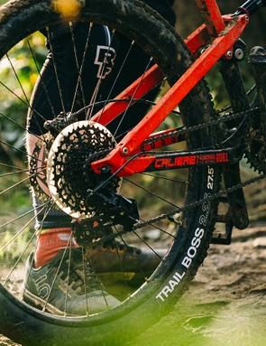 It's nice to see a grippier WTB Trail Boss tyre at the back
