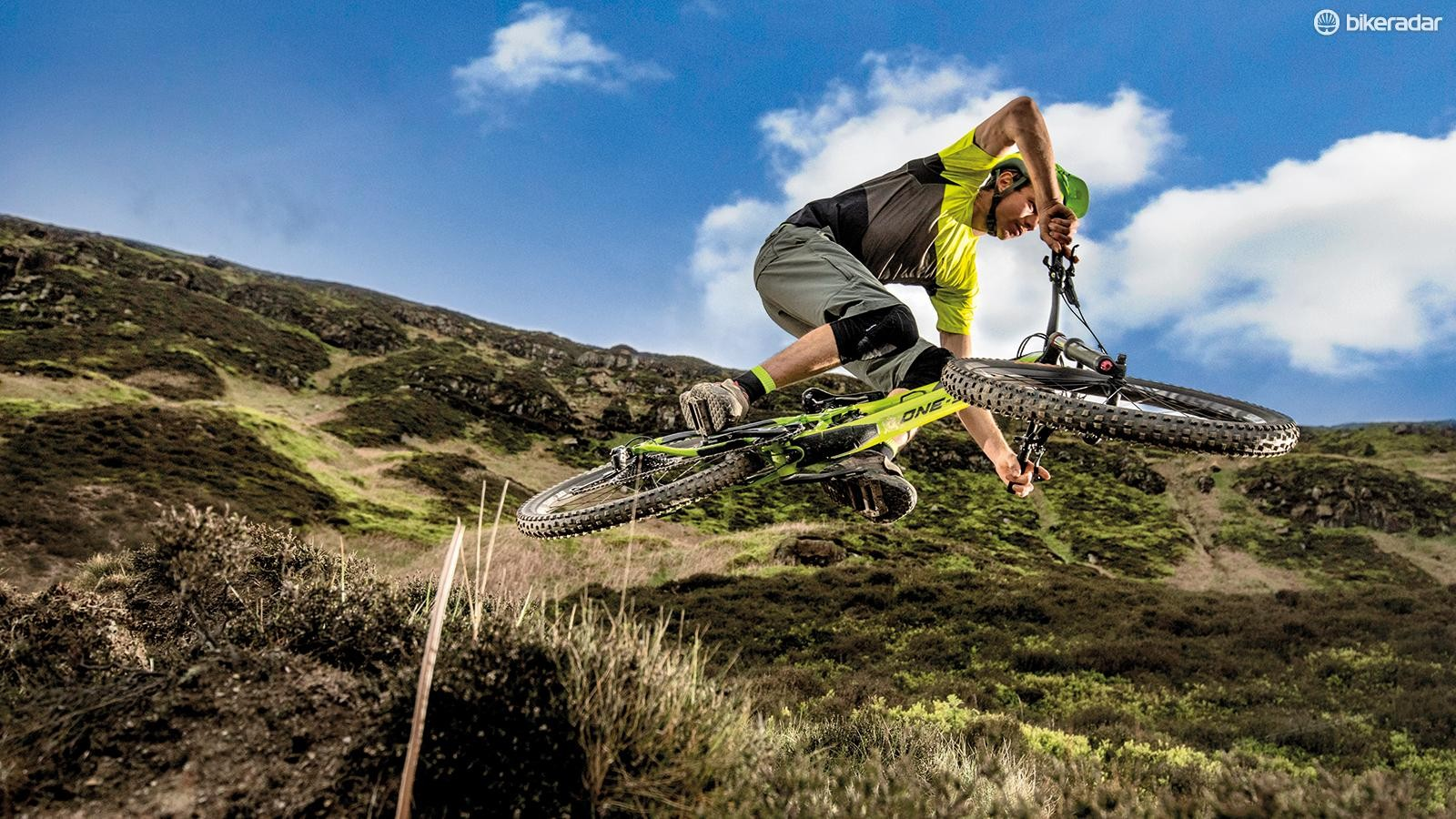 The Merida performs well on the rowdiest trails
