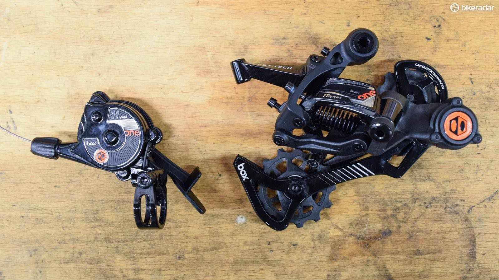 Box Components has an intriguing new 'push-push' shifter and derailleur
