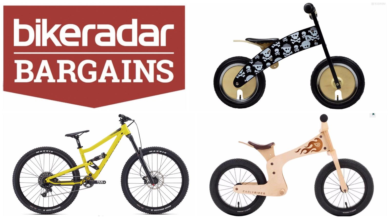 Discounted kids' bikes