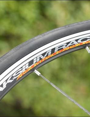 Schwalbe Stelvio Plus tyres on Mavic Aksium Race wheels