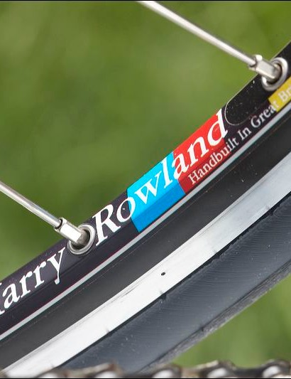 DT Swiss rims bear the mark of wheel builder Harry Rowland