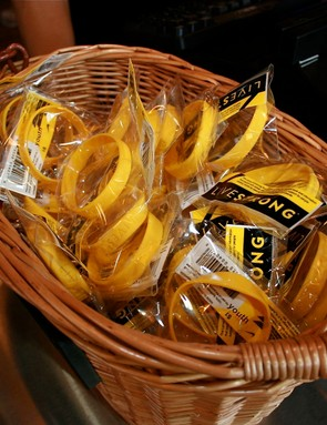 Livestrong wristbands, of course.