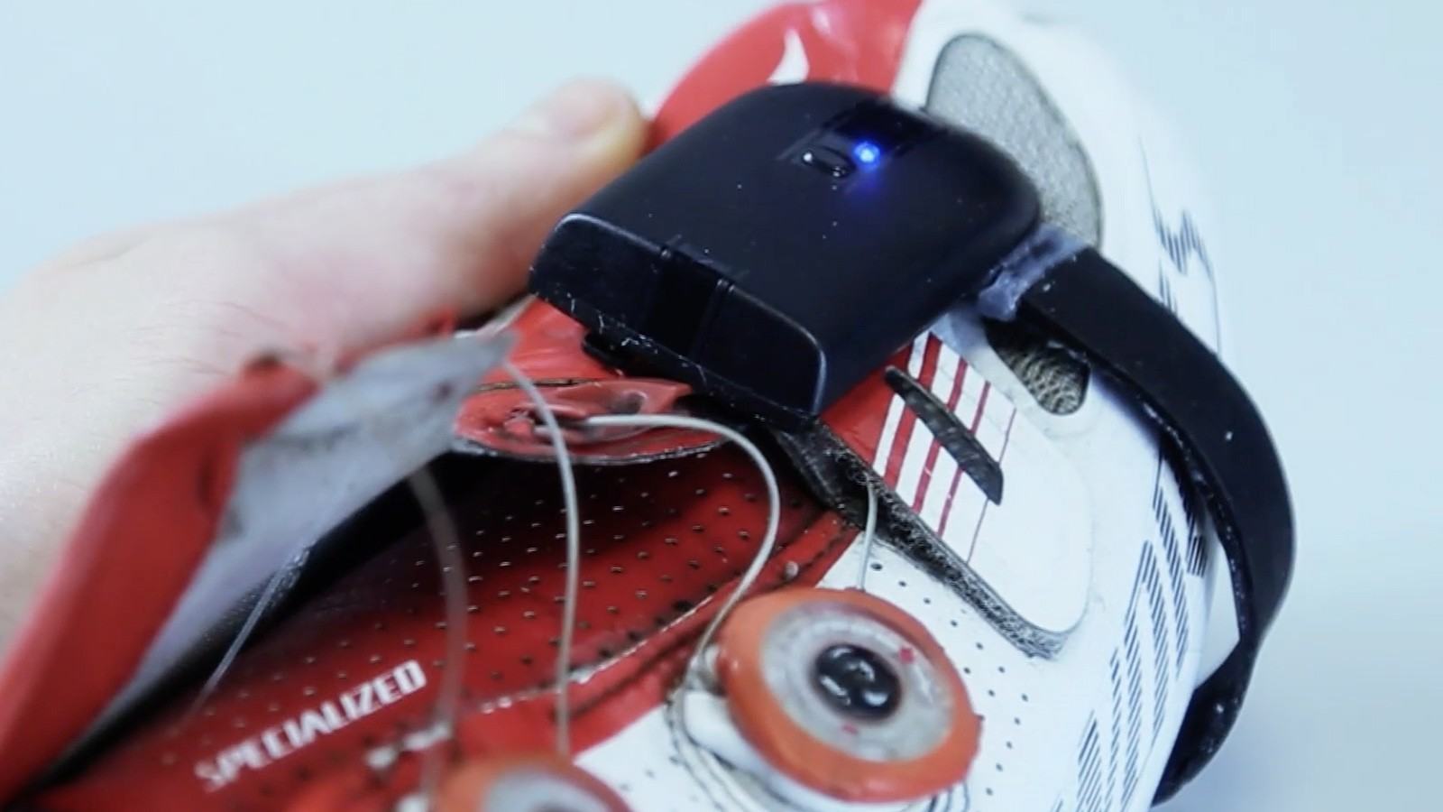 A pre-production example of the Zone DPMX 'wearable' power meter
