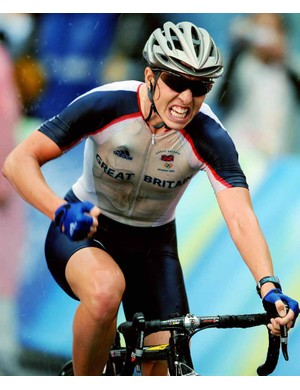Nicole Cooke won Team GB's first gold of the Games.