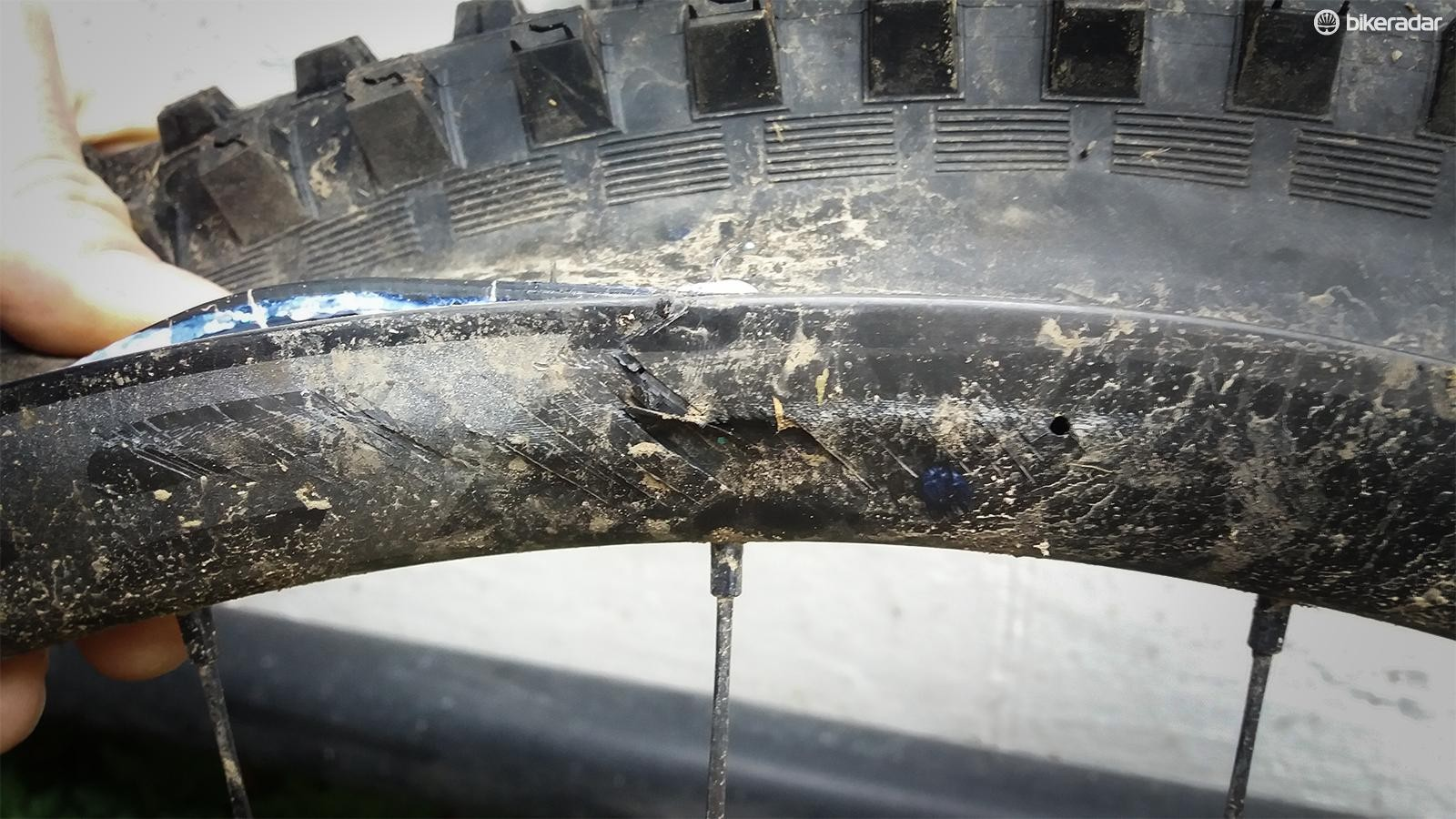 UK tester Seb Stott has managed to crack two Bontrager Line 30 rims