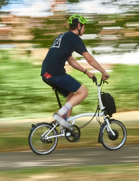 We are pleased to report that the Brompton Electric has lost none of the Brompton's charming ride character