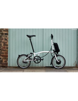 The Brompton Electric folds just as small as the original