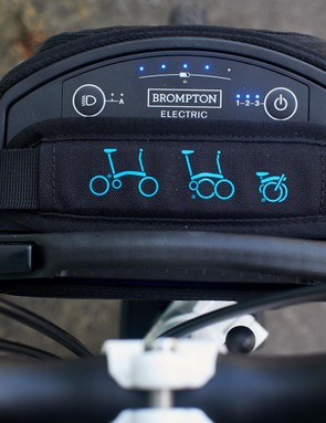 The 2.9kg battery and control unit simply clicks on and off and can be worn as a shoulder bag