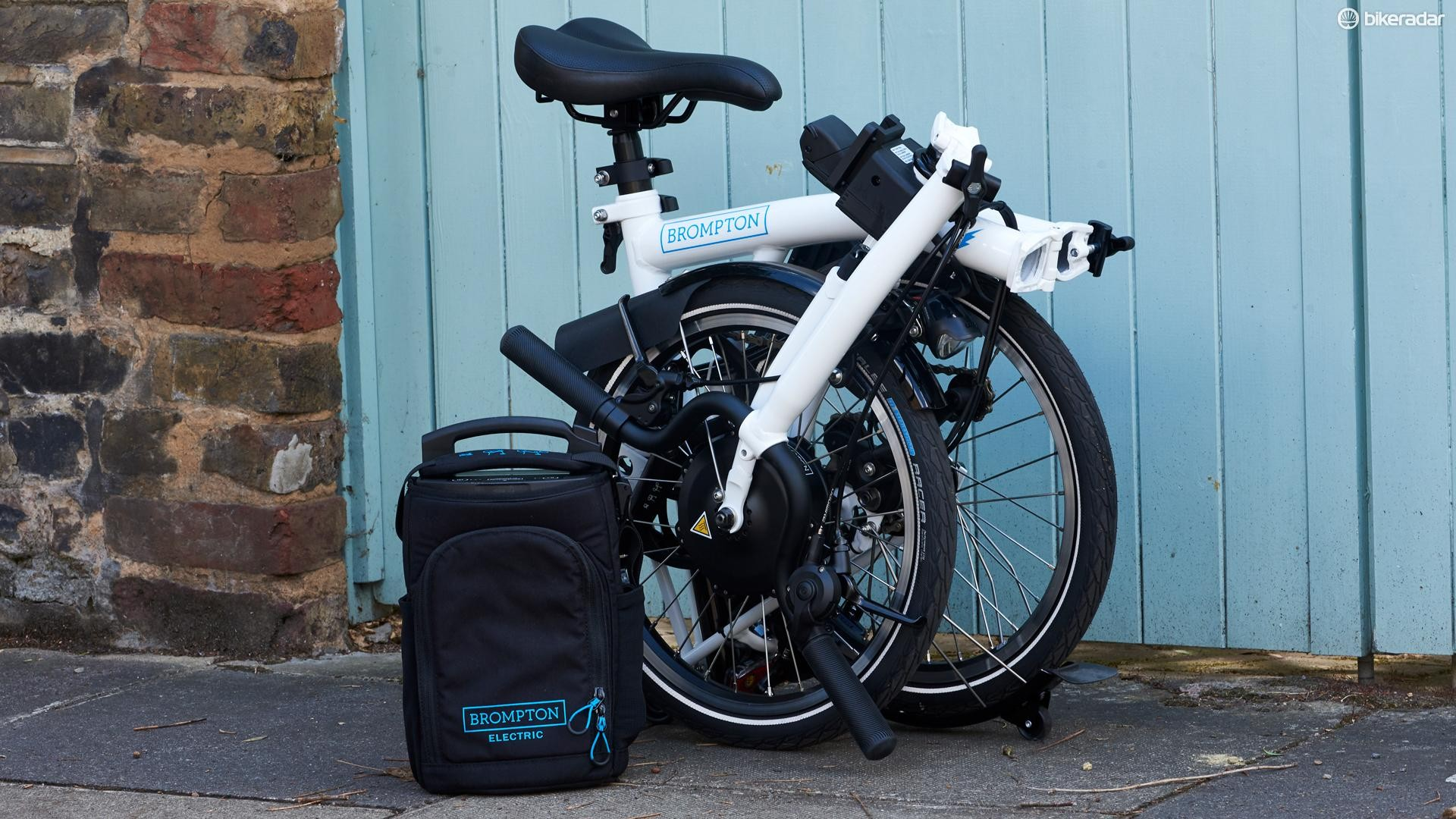 It sure folds up neat, but Brompton's Electric weighs a hefty 16.6kg