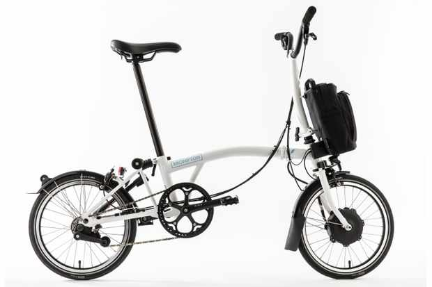 The Brompton Electric features a 250W front hub motor