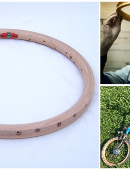 If your Brompton isn't quite weird enough already, these wooden rims from Ghisallo should do the trick
