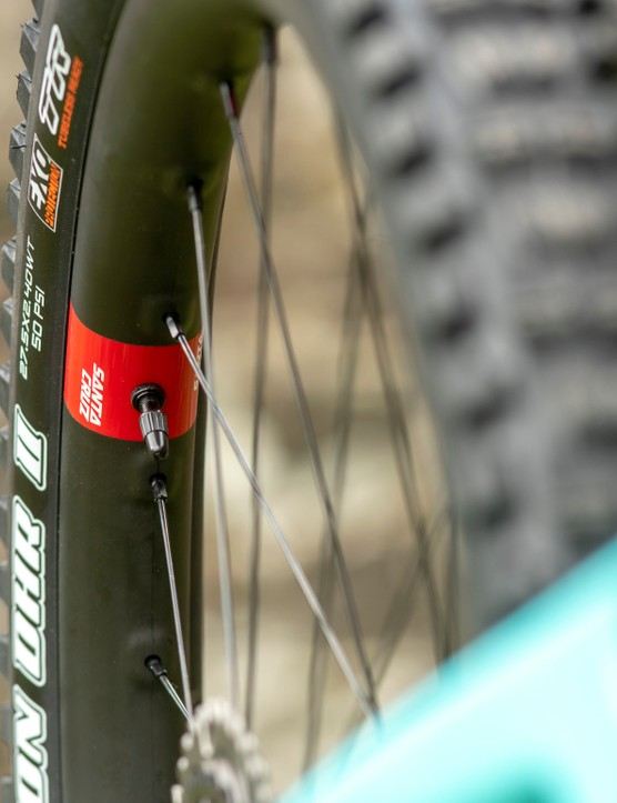 Santa Cruz has specc'd Reserve wheels as an option on S-level models and above