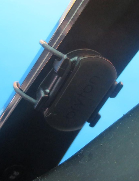 The Cadence sensor is magnet free and simply straps to your crank arm