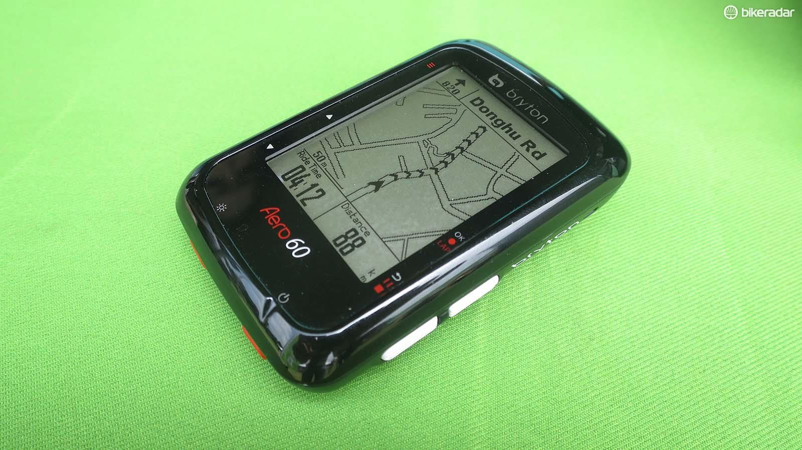The Aero 60 offers full mapping via the open source OpenStreetMap software