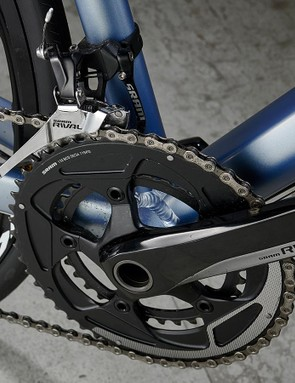 The full carbon fork aids the Ultra's accurate steering and handling feel