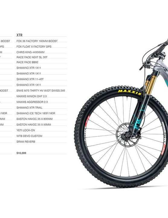 The SB5.5c is offered in three complete builds and as a frame with shock
