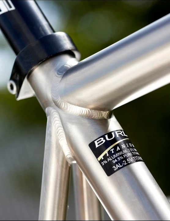 You couldn't ask for a more understated titanium frame.