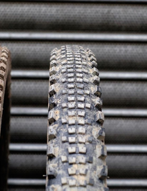 The 29x2.3in Specialized Butcher and Slaughter Grid tires used for trail 2, 3 and 4