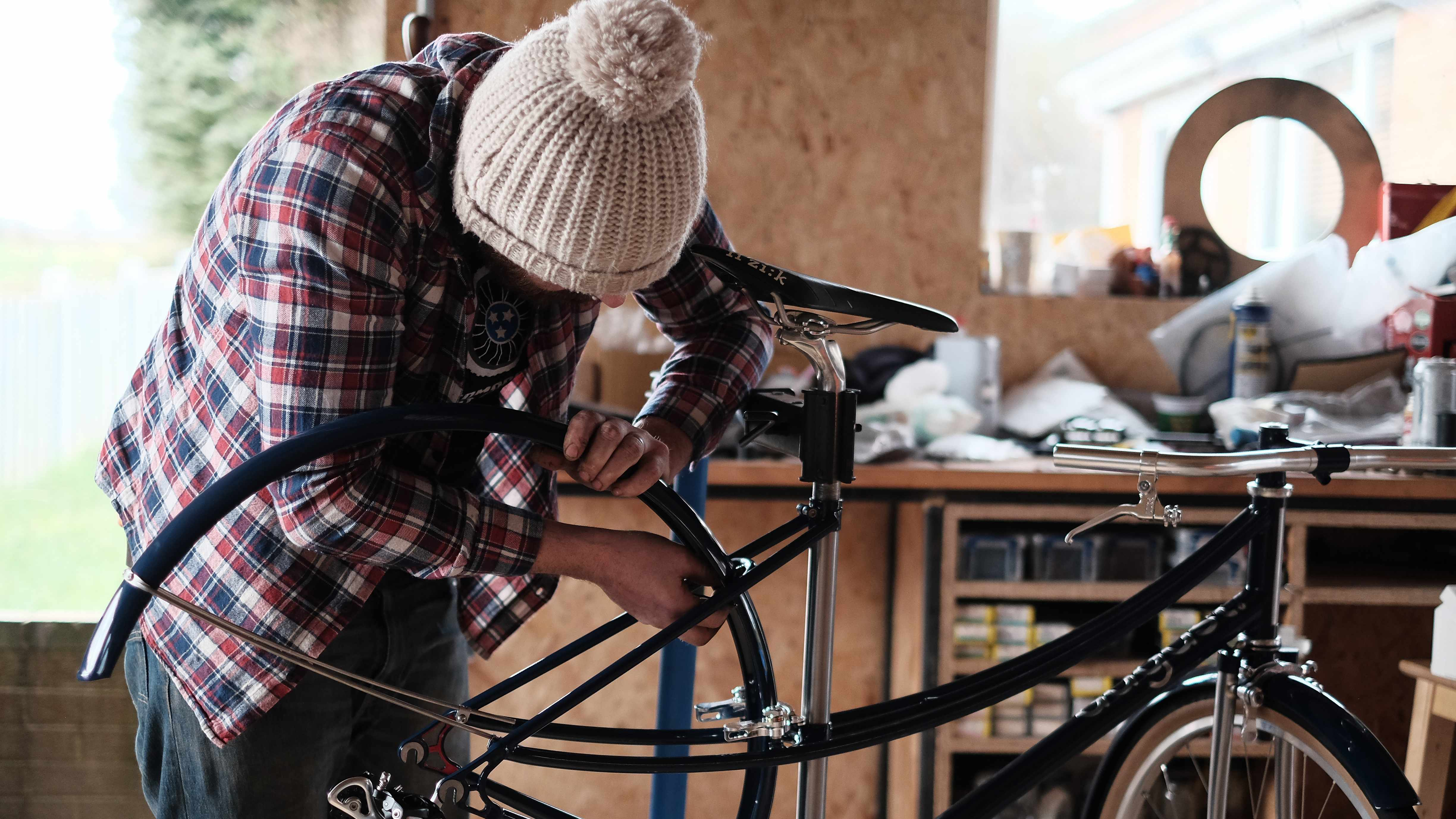 The limited edition bikes were hand built by Gavin Buxton of August Bicycles
