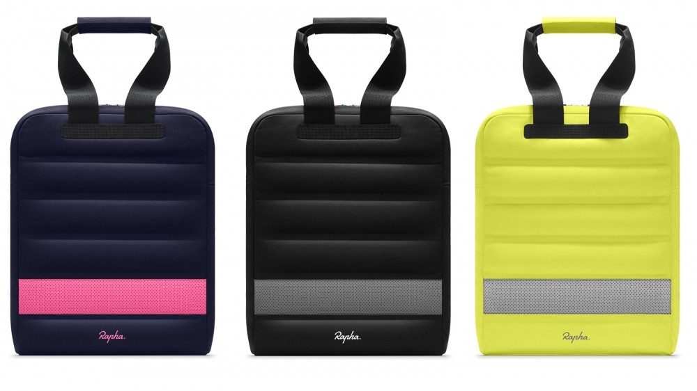 The Rapha Backpack Tote, available through Apple, comes in three styles