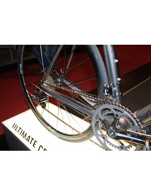 The chain stays are designed to transfer the maximum power to the rear end.