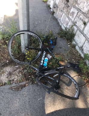 Chris Froome tweeted this image following the incident