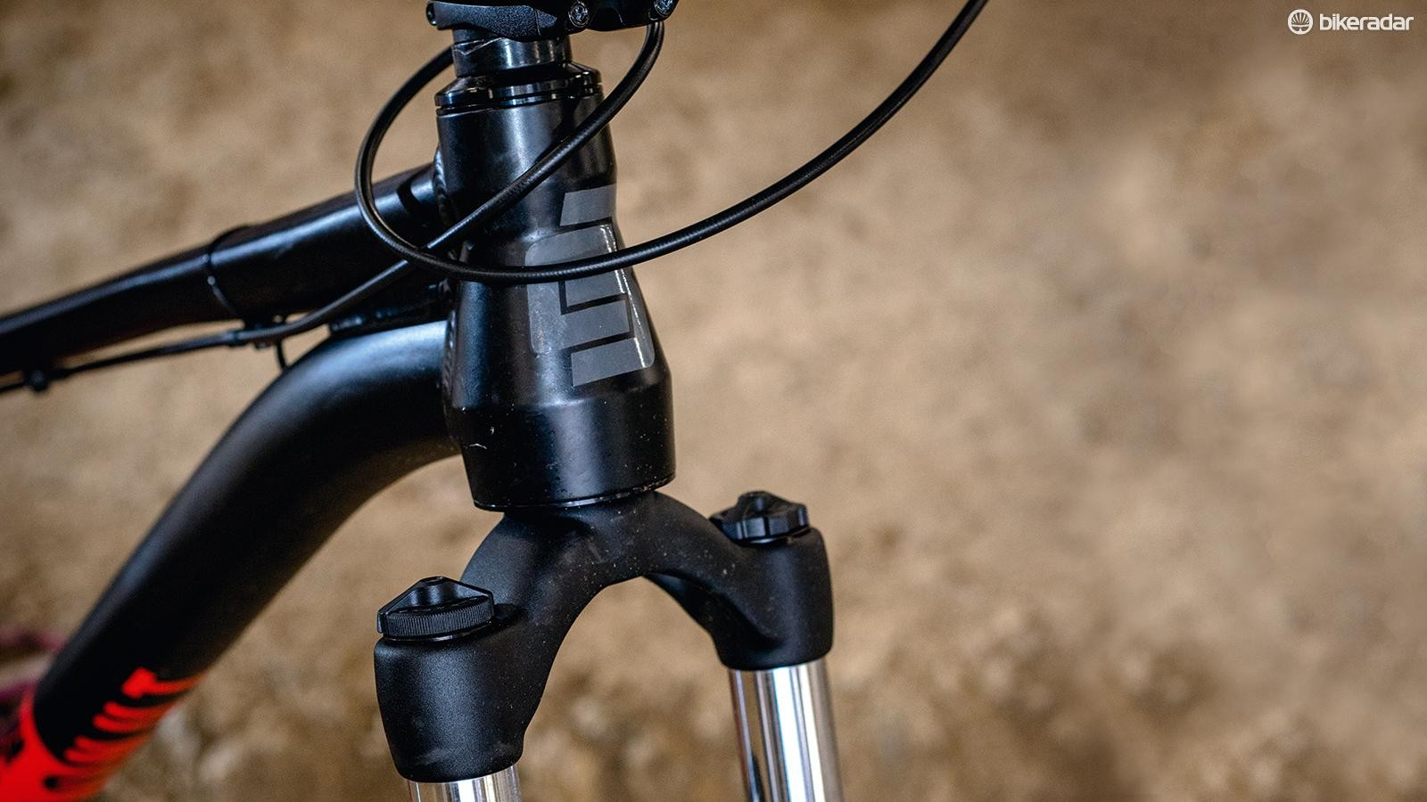 While the head tube is tapered, the fork steerer isn't, but it makes future upgrading easier