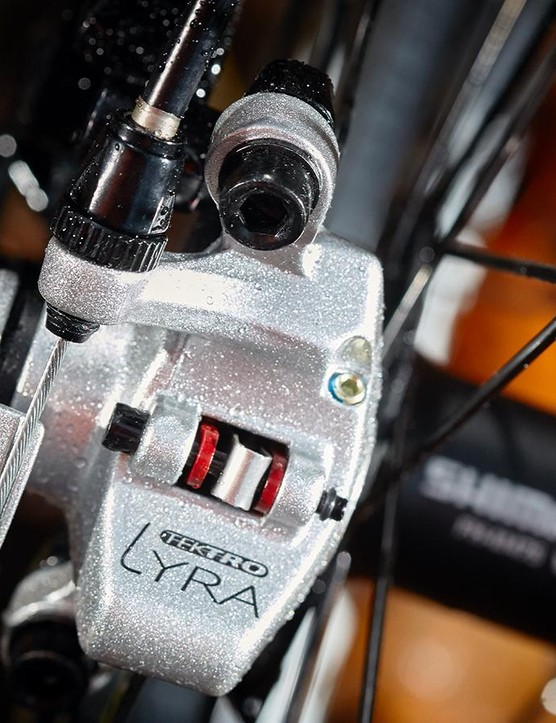 Tektro's Lyra cable disc brakes worked well with decent modulation