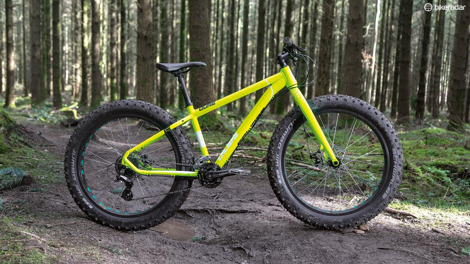 The slack-angled Dune is designed more for trail centre fun than trips into the wild