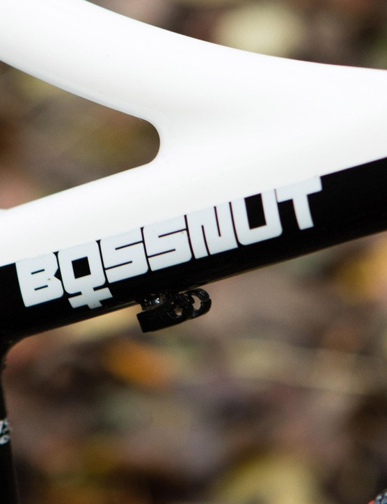 More design details, like the ladies Bossnut logo