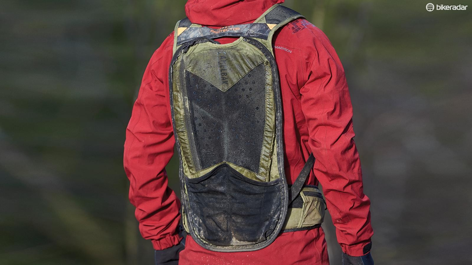 With a whip of a zip, turns into a standalone back protector