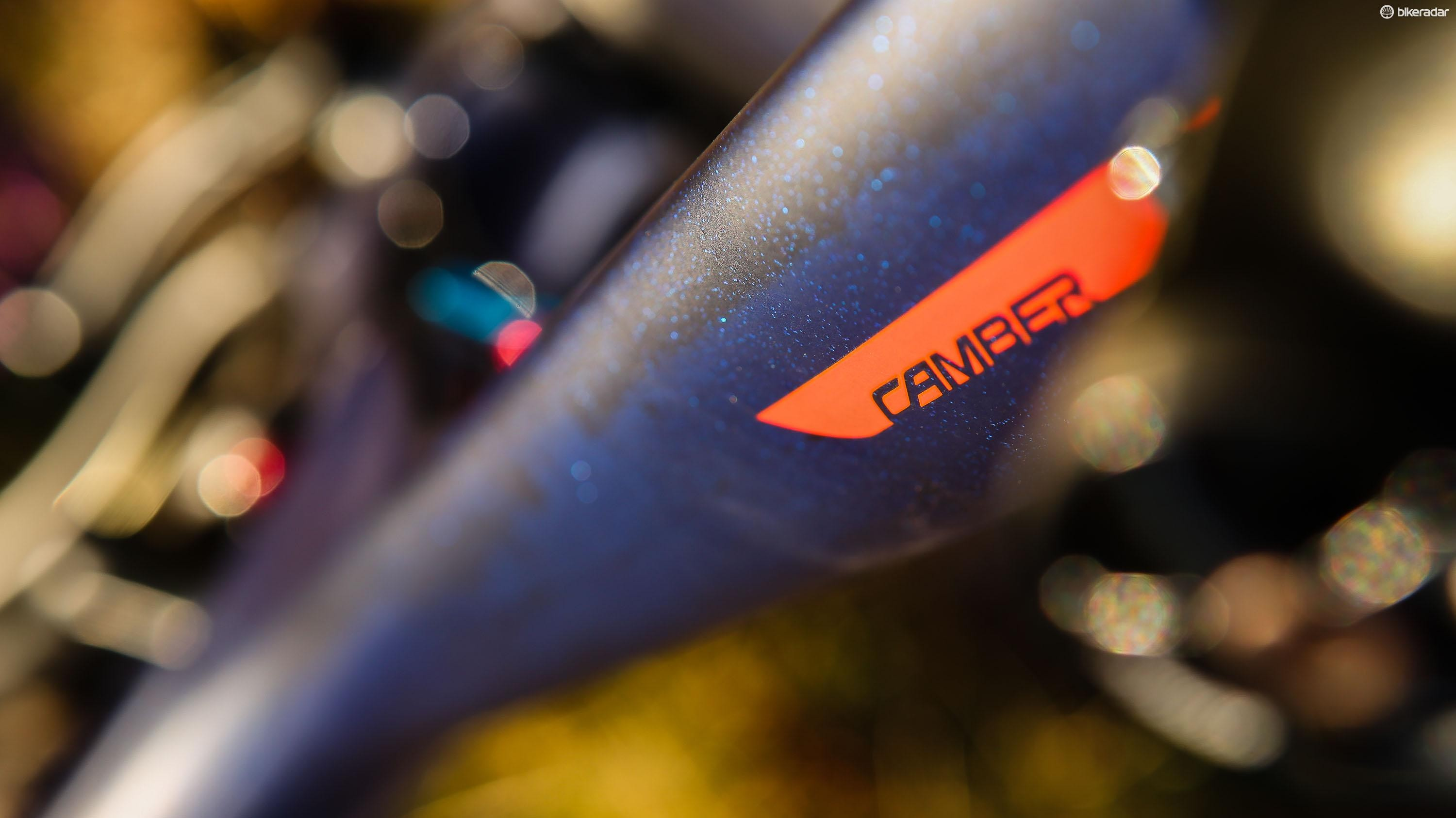 The bike features a subtle sparkly finish — and attracts a LOT of attention