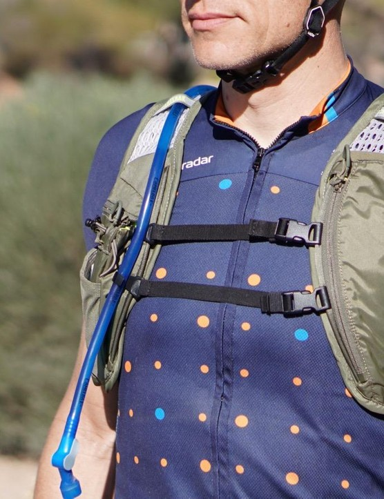 Basically a modified endurance run vest, the Chase Bike Vest has front storage and double stabilizing straps