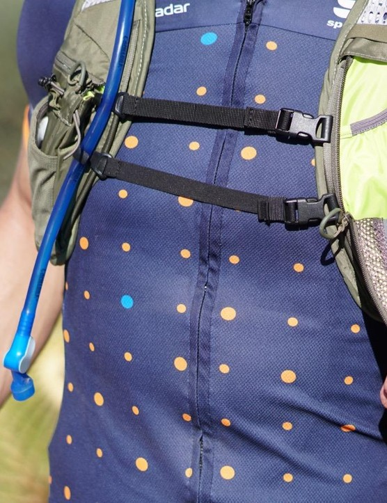 Front pouches are easier to access while riding than the rear pockets
