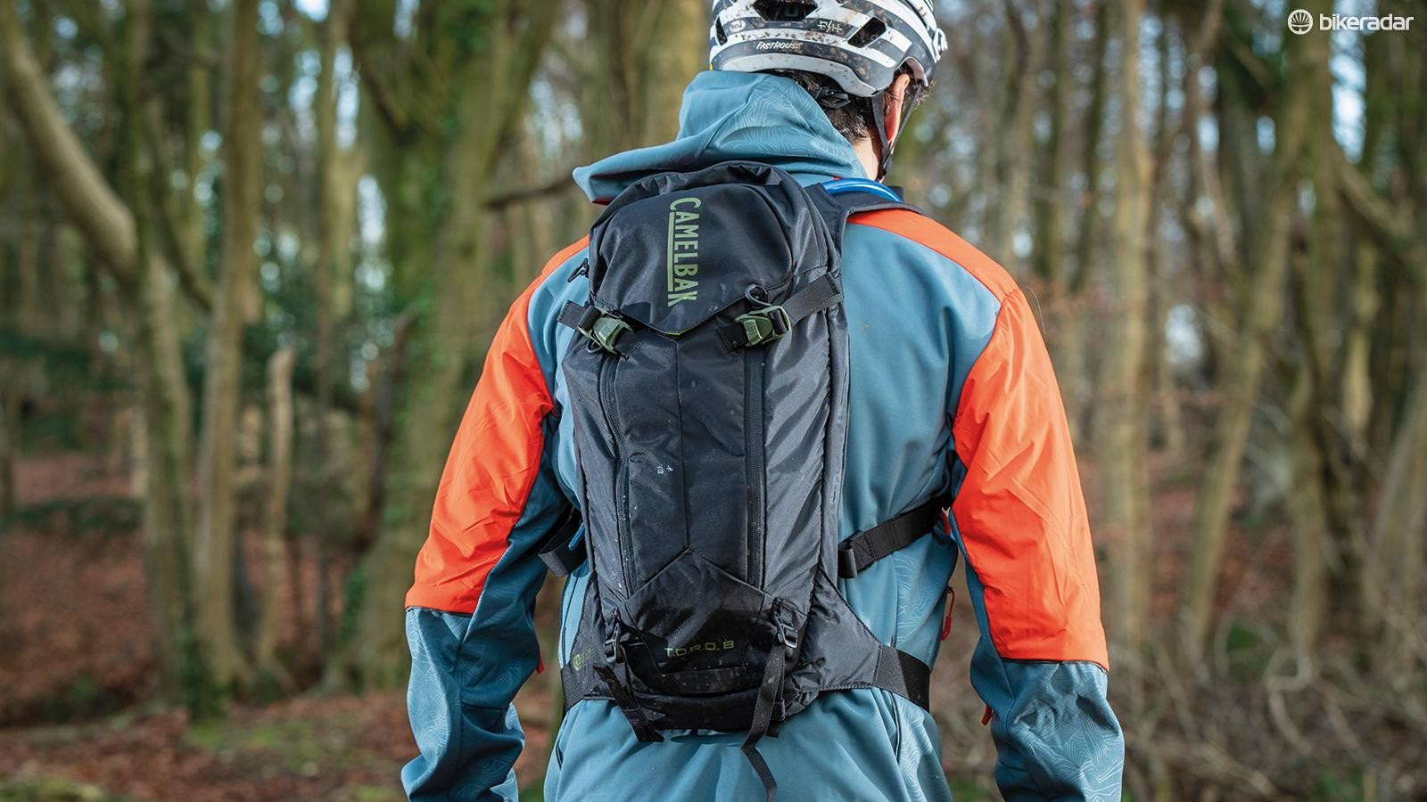 A comy pack with added  back protection