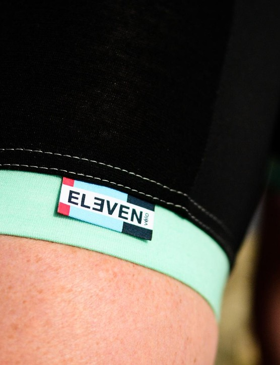 Instead of silicone grippers, Eleven Velo uses strong elastic to keep the shorts in place