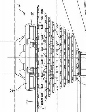 Despite in-depth descriptions, there are no images of a 12-speed cassette in the patent, this one has 11 cogs