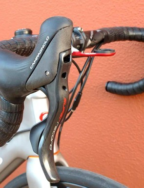 New Super Record mechanical shifting with hydraulic disc levers