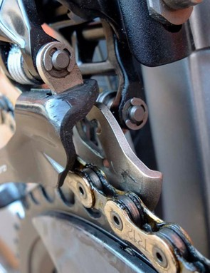 A reprofiled cage, but Campy has maintained its shift trim settings for the perfect chain line