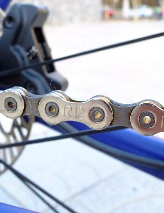 The new chain is narrower than an 11-speed chain but is said to be just as durable
