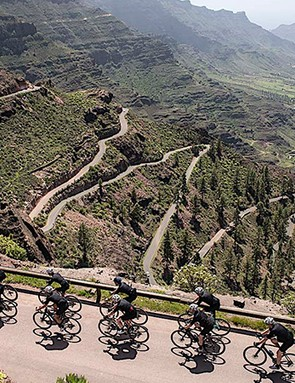 It's not hard to see why Campagnolo prefers Gran Canaria to Italy for guaranteed early season sun and great roads