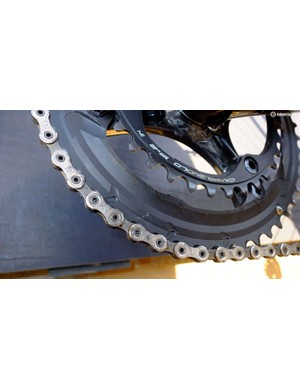 Each chain ring is fixed with its own four-bolt circle for efficiency