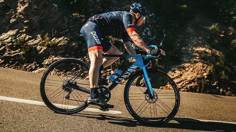 Descending in the hills around Girona on Campy's new Super Record EPS 12-speed disc groupset