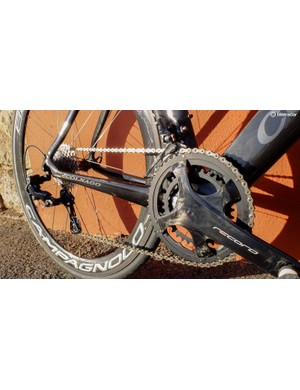Get some bling for your bike with the 12-speed Campagnolo Record disc groupset