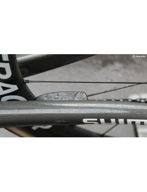 Trek's built-in speedometer and cadence sensor means no ugly zip ties mucking up the frame