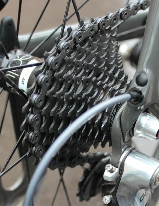 Cancellara is one of the world's strongest bike racers. He ran an 11-28 cassette at the Tour of Flanders