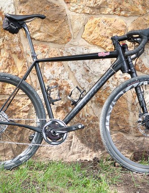 Ted King won last year's race and rode the same Cannondale Slate this time