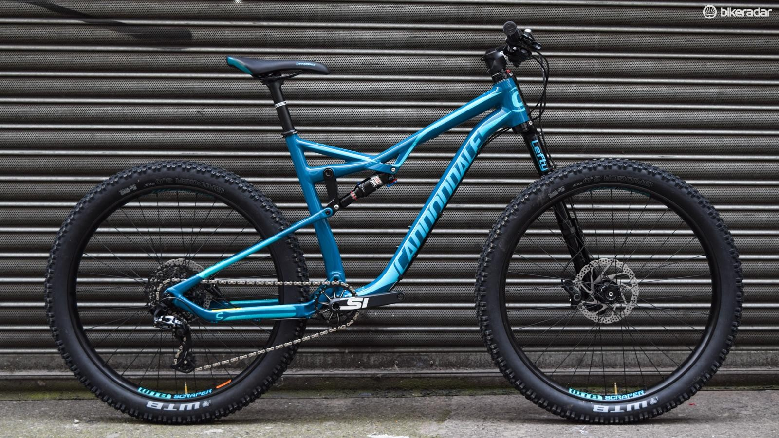 """The Cannondale Bad Habit 1 accepts 27.5"""" tyres up to three inches wide"""