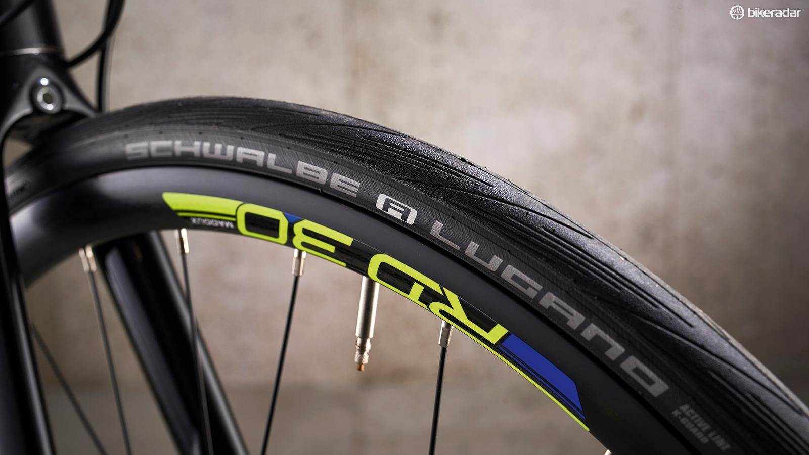 RD30 wheels are wrapped up in Schwalbe Lugano rubber
